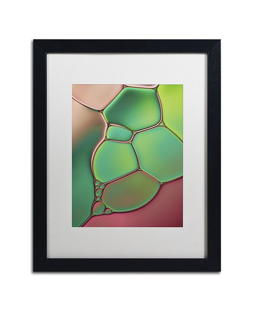 """Trademark Global Cora Niele 'Stained Glass V' Matted Framed Art - 16"""" x 20"""" x 0.5"""""""