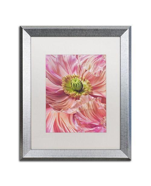 "Trademark Global Cora Niele 'Cerise Pink Poppy' Matted Framed Art - 20"" x 16"" x 0.5"""