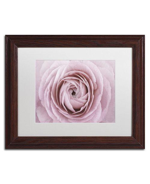 "Trademark Global Cora Niele 'Persian Buttercup' Matted Framed Art - 14"" x 11"" x 0.5"""