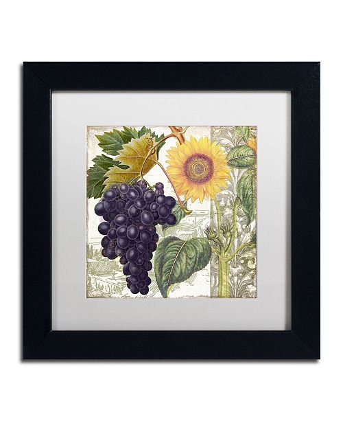 """Trademark Global Color Bakery 'Dolcetto I' Matted Framed Art - 11"""" x 11"""" x 0.5"""""""