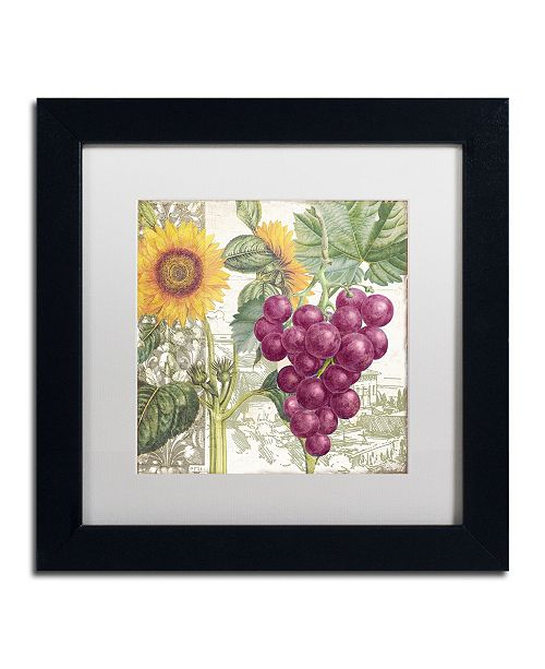 """Trademark Global Color Bakery 'Dolcetto II' Matted Framed Art - 11"""" x 11"""" x 0.5"""""""