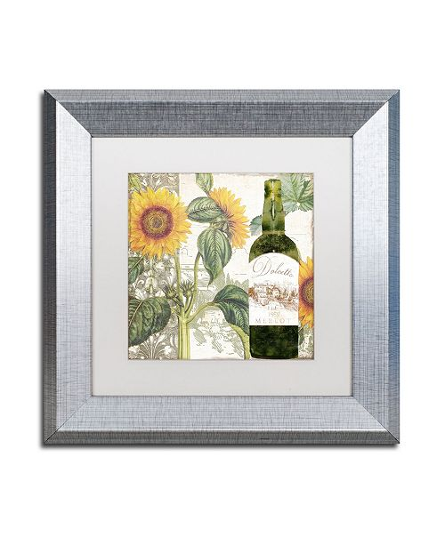 """Trademark Global Color Bakery 'Dolcetto V' Matted Framed Art - 11"""" x 0.5"""" x 11"""""""