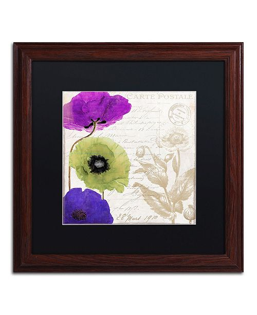 """Trademark Global Color Bakery 'Love Notes II' Matted Framed Art - 16"""" x 0.5"""" x 16"""""""