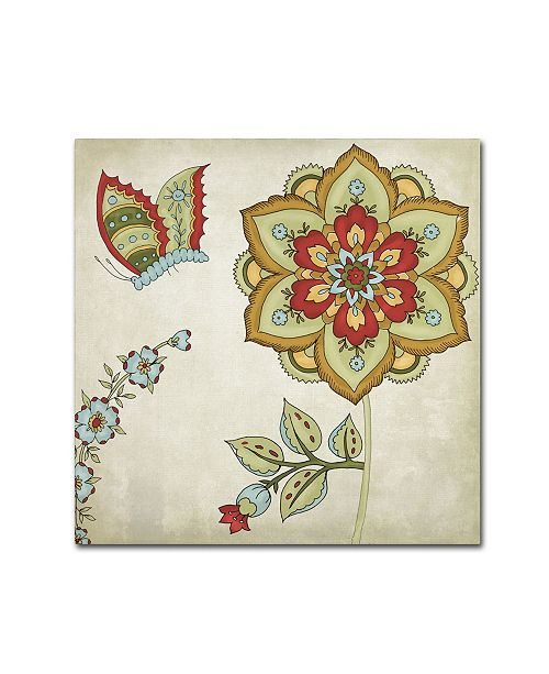 "Trademark Global Color Bakery 'Sasha I' Canvas Art - 35"" x 2"" x 35"""
