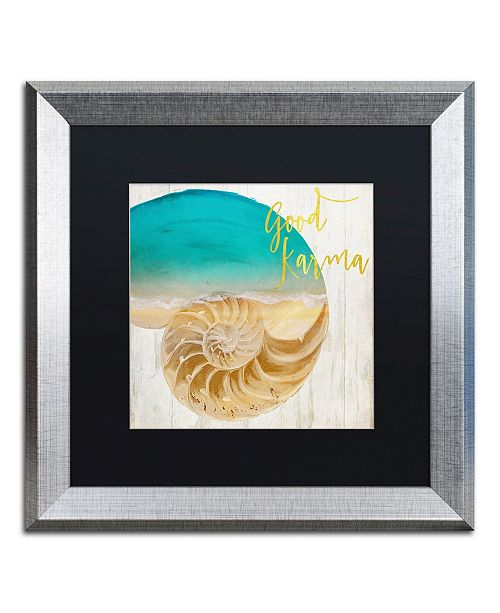 "Trademark Global Color Bakery 'Sea In My Hand' Matted Framed Art - 16"" x 0.5"" x 16"""