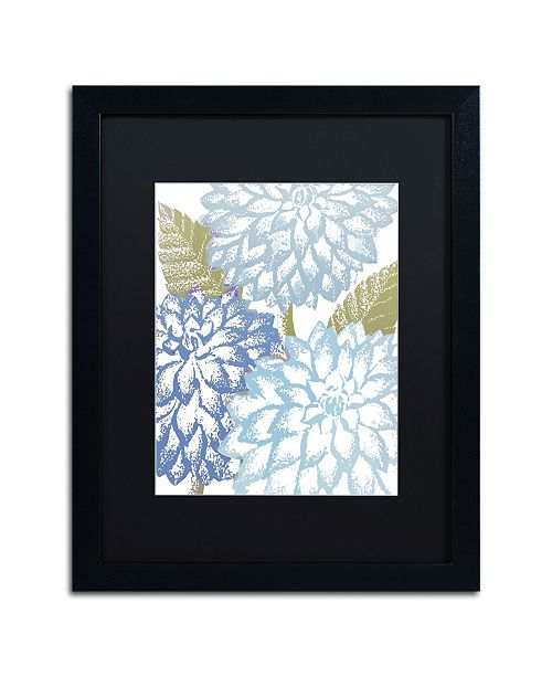 "Trademark Global Color Bakery 'Sea Dahlias I' Matted Framed Art - 16"" x 20"" x 0.5"""
