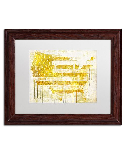 "Trademark Global Color Bakery 'American Dream I' Matted Framed Art - 14"" x 0.5"" x 11"""