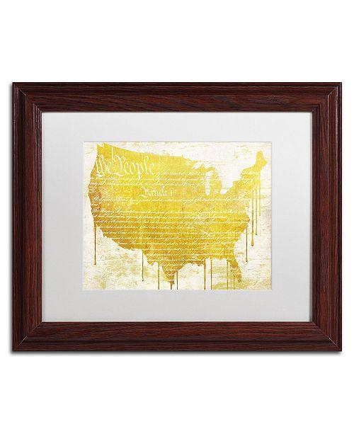 "Trademark Global Color Bakery 'American Dream II' Matted Framed Art - 14"" x 0.5"" x 11"""