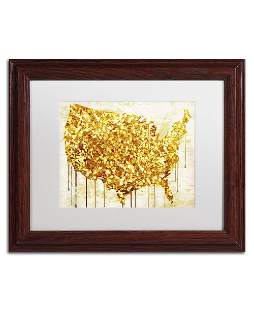 "Trademark Global Color Bakery 'American Dream IV' Matted Framed Art - 14"" x 0.5"" x 11"""
