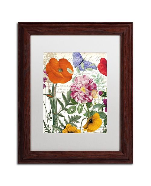 "Trademark Global Color Bakery 'Printemps' Matted Framed Art - 11"" x 0.5"" x 14"""