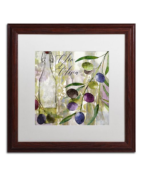 """Trademark Global Color Bakery 'Colors Of Tuscany I' Matted Framed Art - 16"""" x 0.5"""" x 16"""""""