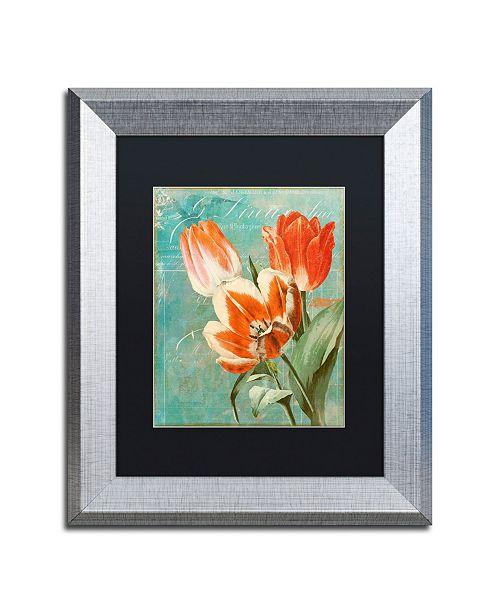"Trademark Global Color Bakery 'Tulips Ablaze II' Matted Framed Art - 11"" x 0.5"" x 14"""
