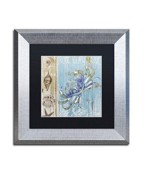 "Trademark Global Color Bakery 'Blue Crab I' Matted Framed Art - 11"" x 0.5"" x 11"""