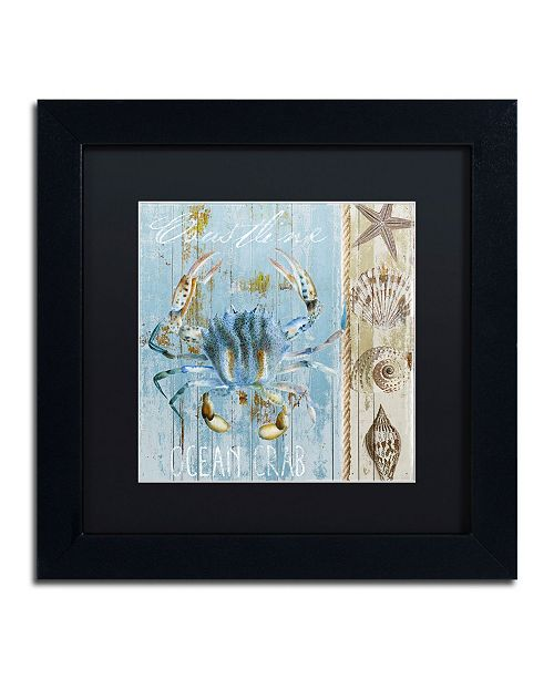 """Trademark Global Color Bakery 'Blue Crab II' Matted Framed Art - 11"""" x 11"""" x 0.5"""""""