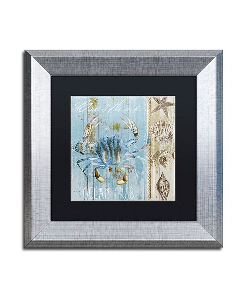 """Trademark Global Color Bakery 'Blue Crab II' Matted Framed Art - 11"""" x 0.5"""" x 11"""""""