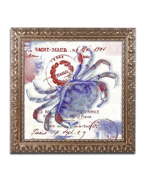 """Trademark Global Color Bakery 'Oceania I' Ornate Framed Art - 16"""" x 0.5"""" x 16"""""""