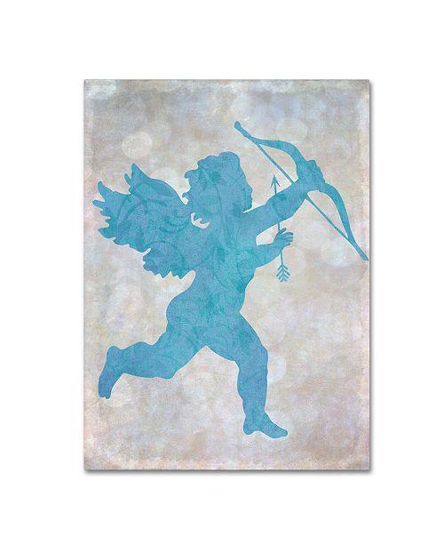 "Trademark Global Cora Niele 'Cupid Blue' Canvas Art - 32"" x 24"" x 2"""