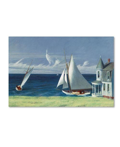 "Trademark Global Edward Hopper 'The Lee Shore' Canvas Art - 19"" x 12"" x 2"""