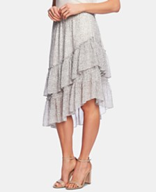 1.STATE Tiered Asymmetrical Skirt
