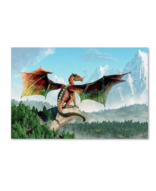 "Trademark Global Daniel Eskridge 'Perched Dragon' Canvas Art - 24"" x 16"" x 2"""