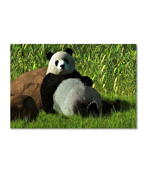 "Trademark Global Daniel Eskridge 'Reclining Panda' Canvas Art - 32"" x 22"" x 2"""