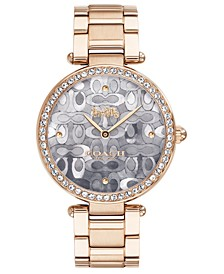 Women's Park Carnation Gold-Tone Stainless Steel Bracelet Watch 34mm