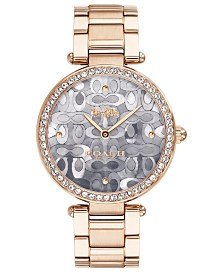 COACH Women's Park Carnation Gold-Tone Stainless Steel Bracelet Watch 34mm