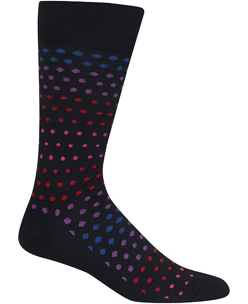 Hot Sox Men's Socks, Variegated Dot