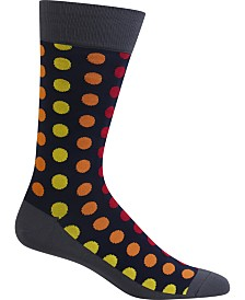 Hot Sox Men's Socks, Dot-Print
