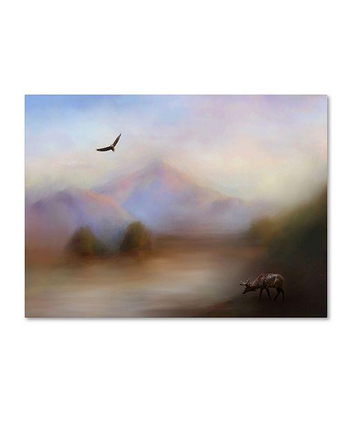 "Trademark Global Jai Johnson 'Morning At The Mountain' Canvas Art - 32"" x 24"" x 2"""