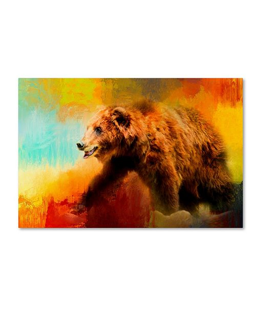 "Trademark Global Jai Johnson 'Colorful Expressions Grizzly Bear' Canvas Art - 19"" x 12"" x 2"""