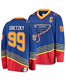 Authentic NHL Apparel Men's Wayne Gretzky St. Louis Blues Heritage Breakaway Jersey