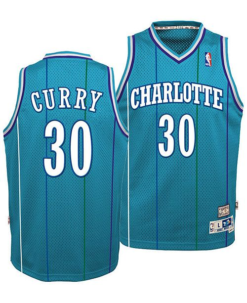 quality design 4bc66 d3c10 Big Boys Dell Curry Charlotte Hornets Retired Player Swingman Jersey