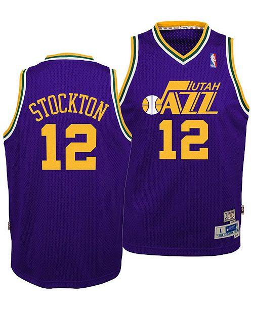 more photos cb7cf b9c60 Big Boys John Stockton Utah Jazz Retired Player Swingman Jersey