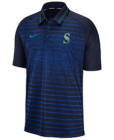 Nike Men's Seattle Mariners Stripe Game Polo