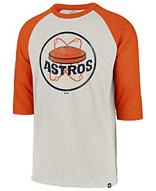 '47 Brand Men's Houston Astros Coop Throwback Club Raglan T-Shirt