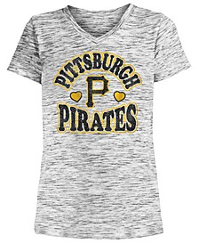 Big Girls Pittsburgh Pirates Spacedye T-Shirt