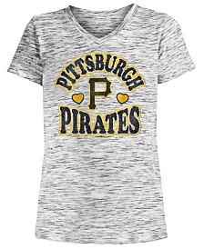5th & Ocean Big Girls Pittsburgh Pirates Spacedye T-Shirt
