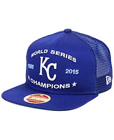 New Era Kansas City Royals Team Front Trucker 9FIFTY Snapback Cap
