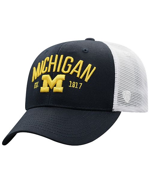 3525431d3 Michigan Wolverines Notch Heather Trucker Cap