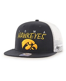 '47 Brand Big Boys Iowa Hawkeyes Wordmark Captain Snapback Cap