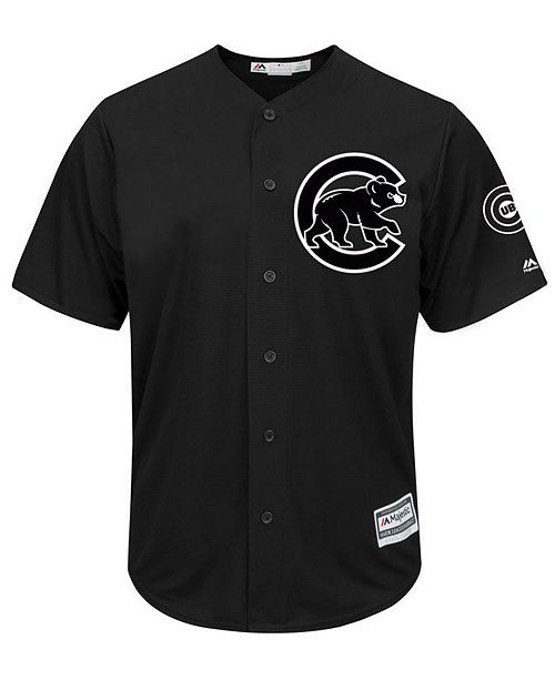 80ac41396 ... Majestic Men's Chicago Cubs Black Tux Replica Cool Base Jersey ...