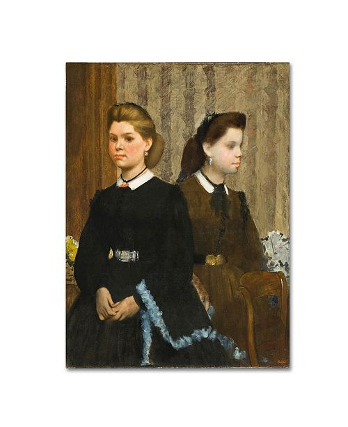 "Trademark Global Degas 'The Bellelli Sisters' Canvas Art - 47"" x 35"" x 2"""