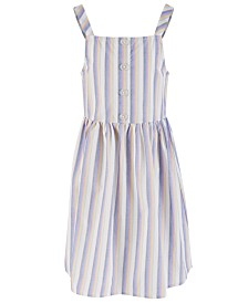 Epic Threads Big Girls Striped Cotton Sundress, Created for Macy's