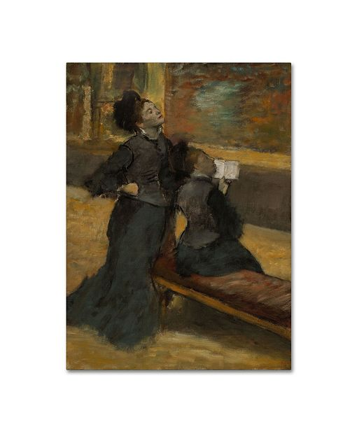 """Trademark Global Degas 'Visit To A Museum' Canvas Art - 32"""" x 24"""" x 2"""""""