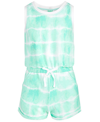 Epic Threads Big Girls Tie-Dyed Romper, Created for Macy's
