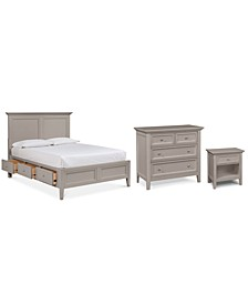 Sanibel Storage Bedroom 3-Pc. Set (Full Bed, Nightstand, and Bachelor's Chest), Created for Macy's