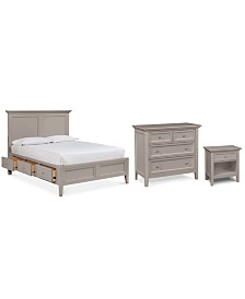 Sanibel Storage Bedroom Furniture, 3-Pc. Set (California King Bed, Nightstand, and Bachelor's Chest), Created for Macy's