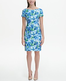 Tommy Hilfiger Floral Scuba Sheath Dress