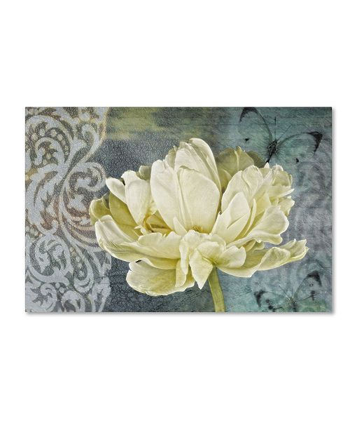 "Trademark Global Cora Niele 'Classic Double White Tulip Ii' Canvas Art - 19"" x 12"" x 2"""